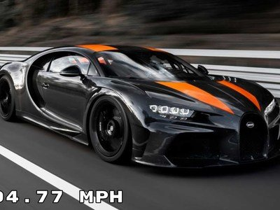 Bugatti hits 305 mph, first supercar to break the 300 mph barrier